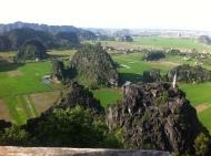 Super Aussicht von einem Tempel auf der Spitze - nach Stufe 623 oder so